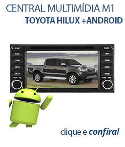 Central Multimídia M1 Toyota Hilux +Android